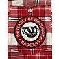 Zoozatz Wisconsin Badgers Women's Full Button Flannel Shirt