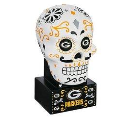 Evergreen Enterprises Green Bay Packers Sugar Skull Statue