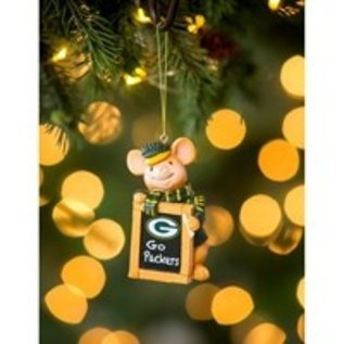 Evergreen Enterprises Green Bay Packers Holiday Mouse Ornament