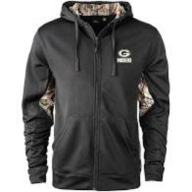 Dunbrooke Green Bay Packers Men's Black and Camo Full Zip Hoodie