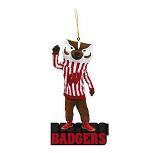 Wisconsin Badgers Mascot Statue Ornament