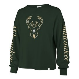 Milwaukee Bucks Women's Sweet Victory Marlow Bell Long Sleeve Tee