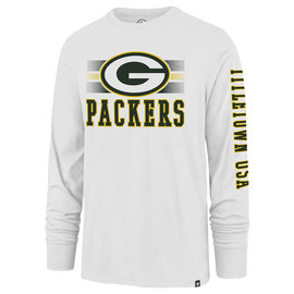 '47 Brand Green Bay Packers Men's Power Rush Rival Long Sleeve Tee