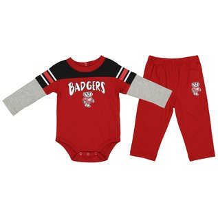 Outerstuff Wisconsin Badgers Youth Half Back Creeper and Pant Set