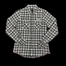 Antigua Green Bay Packers Women's Instinct Flannel Shirt