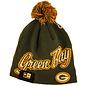 Green Bay Packers Script Freeze Knit Hat