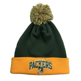 Mitchell & Ness Green Bay Packers knit with throwback logo on cuff