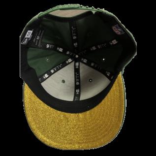 New Era Green Bay Packers Women's 9-50 Team Glisten Snapback Adjustable Hat