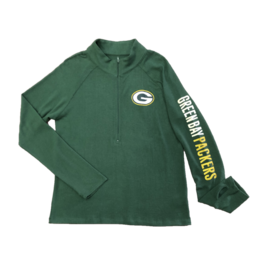 5th &  Ocean Green Bay Packers Women's Brushed Sweater Knit 1/2 Zip