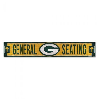 WinCraft, Inc. Green Bay Packers 6x36 General Seating Wood Sign