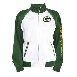5th &  Ocean Green Bay Packers Women's Tricot Fleece Raglan Track Jacket