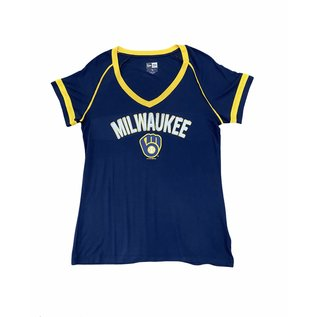 Milwaukee Brewers Women's Rayon V Neck Short Sleeve Tee