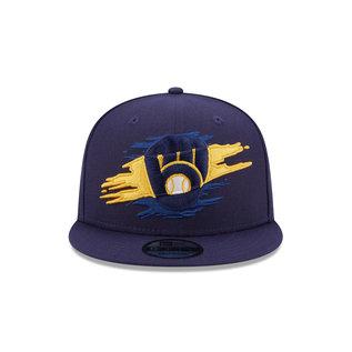 New Era Milwaukee Brewers 9-50 Logo Tear Adjustable Hat