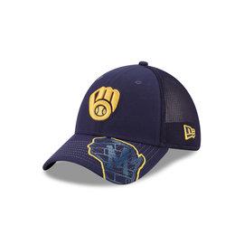 New Era Milwaukee Brewers 39-30 Pop Visor Hat