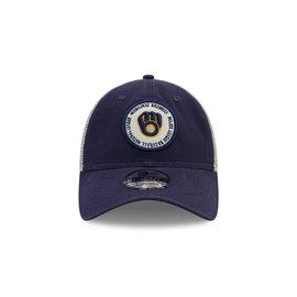 New Era Milwaukee Brewers 9-20 Circle Trucker Adjustable Hat