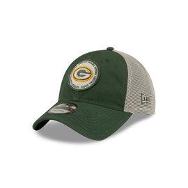 New Era Green Bay Packers 9-20 Circle Trucker Adjustable Hat