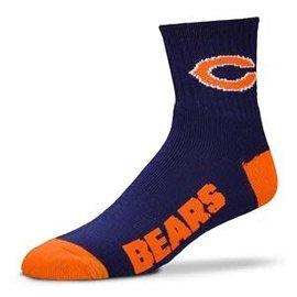 For Bare Feet Chicago Bears Blue 1/4 Socks - Large