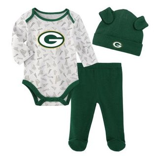 Outerstuff Green Bay Packers Youth Greatest Little Player 3 Piece Set