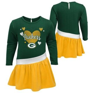 Outerstuff Green Bay Packers Infant All Hearts Dress