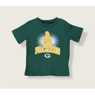 Green Bay Packers Infant Number One Short Sleeve Tee