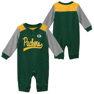Outerstuff Green Bay Packers Infant Scrimmage Long Sleeve Coverall