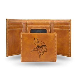 Rico Industries, Inc. Minnesota Vikings Laser Engraved Trifold Wallet
