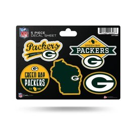 Rico Industries, Inc. Green Bay Packers 5 Pc Sticker Sheet