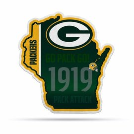 """Rico Industries, Inc. Green Bay Packers 18"""" State Shaped Pennant"""