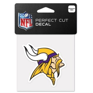 WinCraft, Inc. Minnesota Vikings 4x4  Perfect Cut Colored Decal