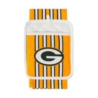 Evergreen Enterprises Green Bay Packers Towel and Oven Mitt Set