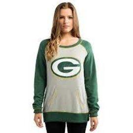 Majestic Green Bay Packers Women's OT Queen Crew Sweatshirt