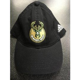 Adidas Milwaukee Bucks Black Adjustable Hat