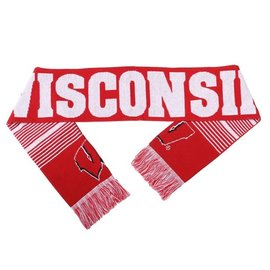 Wisconsin Badgers Reversible Logo Winter Scarf