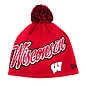New Era Wisconsin Badgers Script Freeze Knit Hat