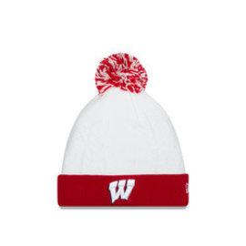 New Era Wisconsin Badgers Snow Crown Womens Cuffed Knit Hat