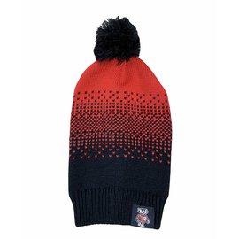Zoozatz Wisconsin Badgers Women's Fade Beanie Knit Hat
