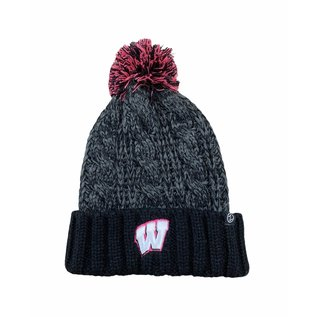 Wisconsin Badgers Brittany Women's Cuffed Knit with Pom