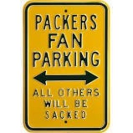 Authentic Street Signs Green Bay Packers Metal Parking Sign
