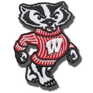 """Wisconsin Badgers 3"""" Embroidered Bucky Patch"""