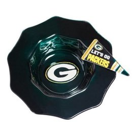 Green Bay Packers Glass Dip Bowl with Pennant