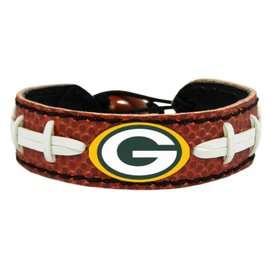 Gamewear Green Bay Packers Brown Leather Football Bracelet