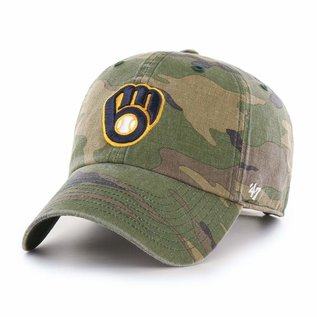 '47 Brand Milwaukee Brewers '47 Camo Clean Up Adjustable Hat