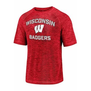 Fanatics Wisconsin Badgers Men's Primary Threat Striated Short Sleeve Tee