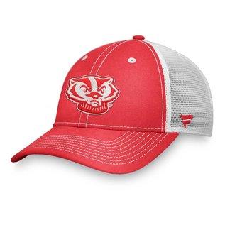 Fanatics Wisconsin Badgers Sport Resort Structured Mesh Back Adjustable Trucker Hat