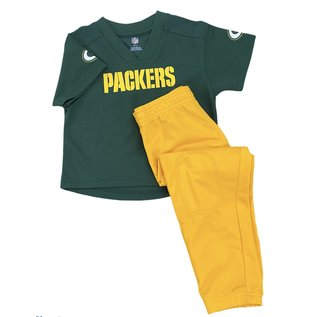 Outerstuff Green Bay Packers Youth Pant Set with Jersey Top