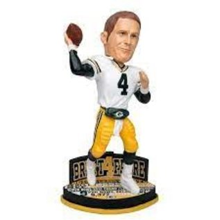 Forever Collectibles Green Bay Packers Brett Favre Career Stats Bobble Head