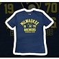 New Era Milwaukee Brewers Men's Tri Blend Jersey Short Sleeve Tee