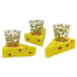 Green Bay Packers Cheesehead Shot Glass on a Cheese Base