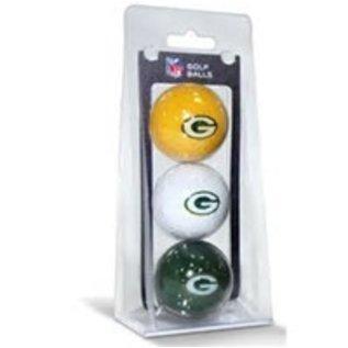 Green Bay Packers 3 Pack Golf Balls