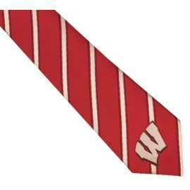 Eagles Wings Wisconsin Badgers Woven Poly I Tie